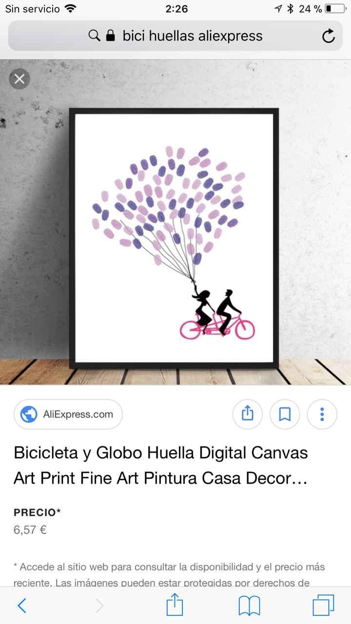 Cuadro huellas bici - 1