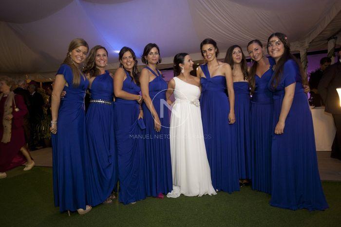 Vestidos de dama de honor en una boda