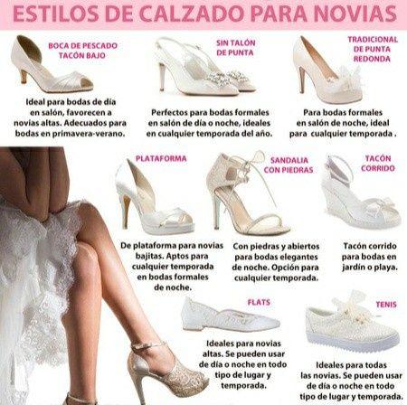 Estilos de zapatos de novia 1