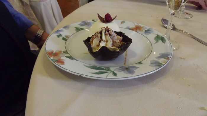 Bomba chocolate blanco y tulipa chocolate