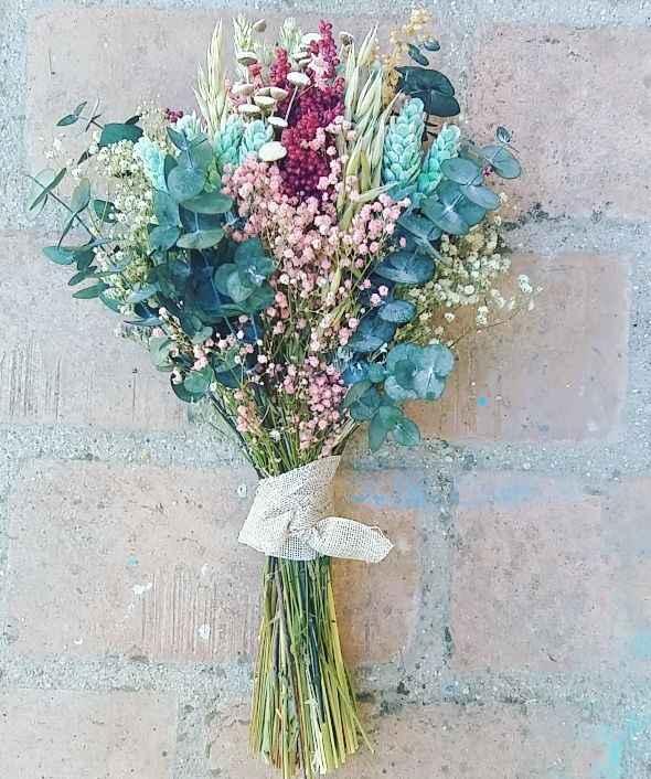 Duda ramo flores preservadas - 1