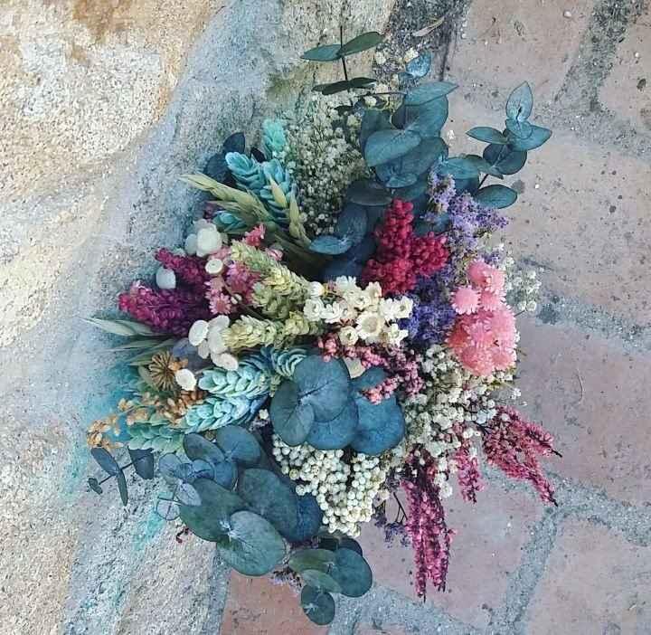 Duda ramo flores preservadas - 2