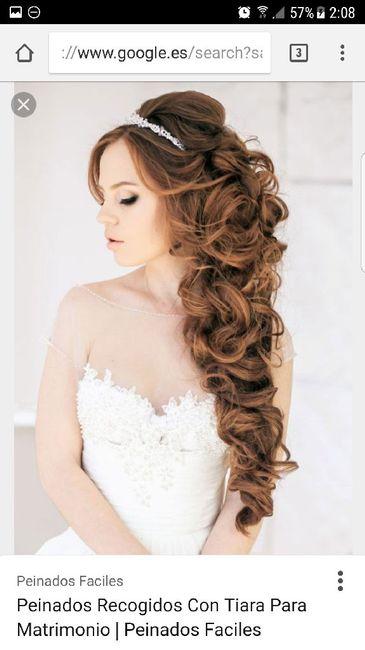 Ayuda peinados de novia semirecogido con corona y velo - Peinados de semirecogido ...