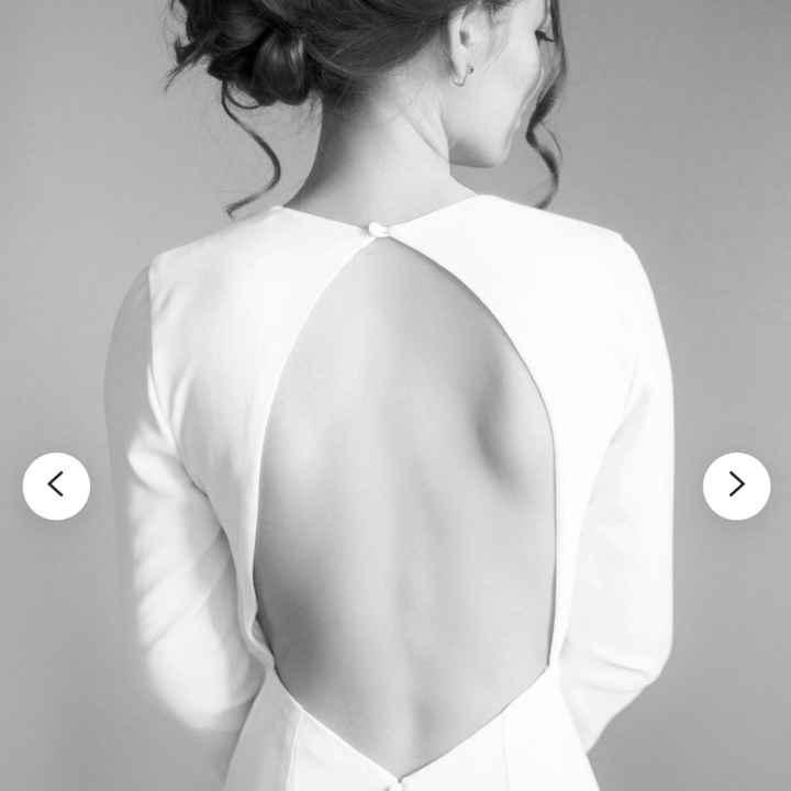 ¿Cómo es la espalda de tu vestido? - 1