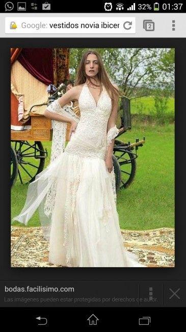 Vestido boda ibicenco mallorca