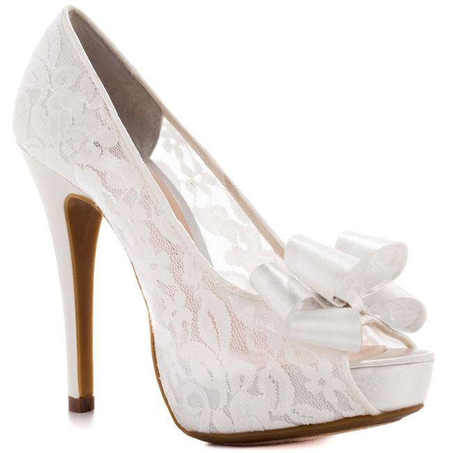zapatos de novia con encaje - moda nupcial - foro bodas