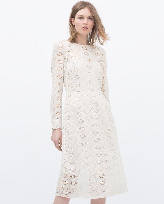 Vestido blanco fiesta zara
