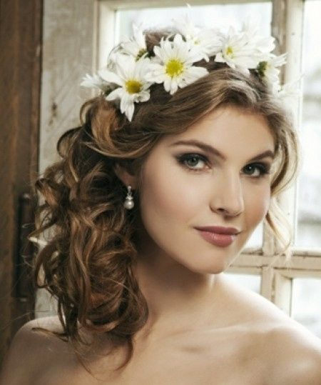 coronas de flores ¿pelo recogido o suelto? - moda nupcial - foro