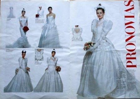 vestido de novia 1990