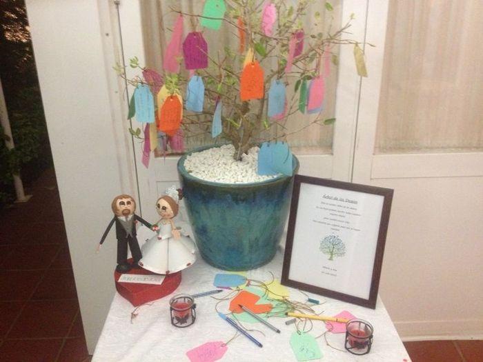 arbol de los deseos en la boda