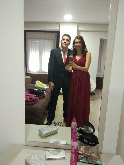 Vestidos para bodas granate