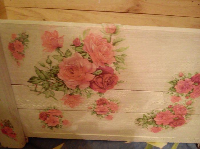 Mi primera caja de frutas decorada en decoupage - Cajas de fruta decoradas ...