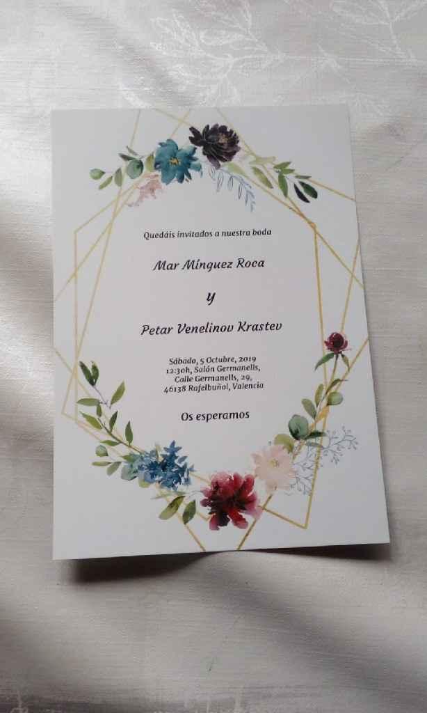 Invitaciones caseras - 1