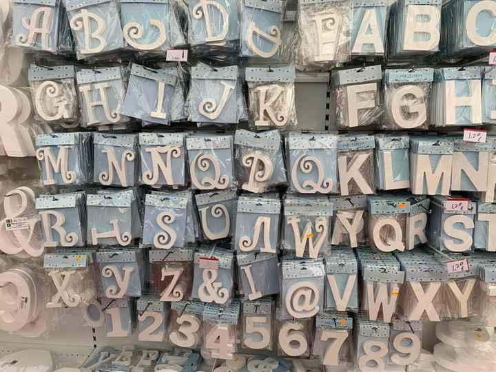 Letras madera - 1