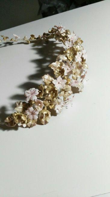 Enamorada de mi tocado de novias arteazabal - 1