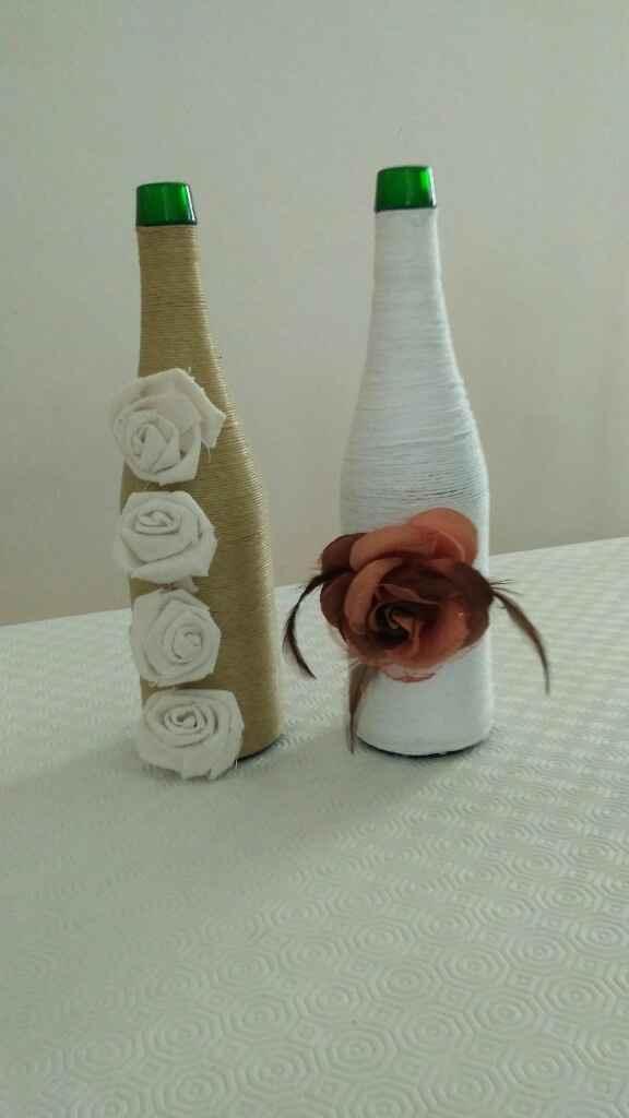Decoración mesa ceremonia botella - 1
