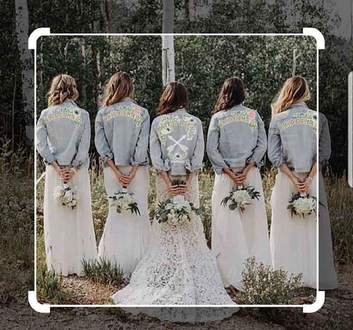 Ayuda parches para damas de honor y novia - 1
