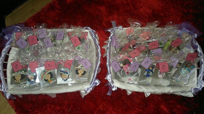 cestas con las muñecas