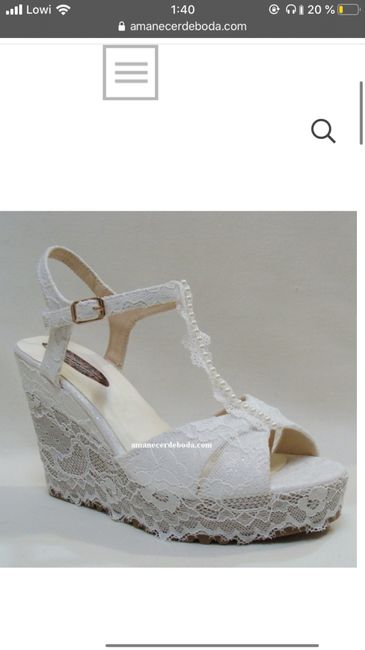 Zapatos Amanecer de boda 1