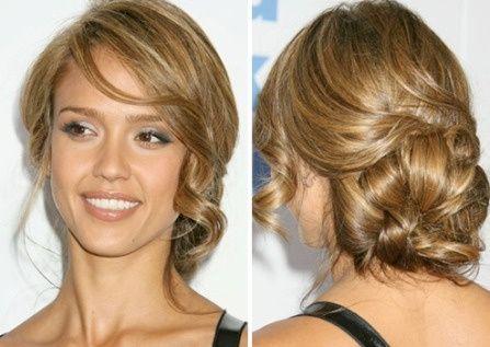 Peinado semi recogido griego