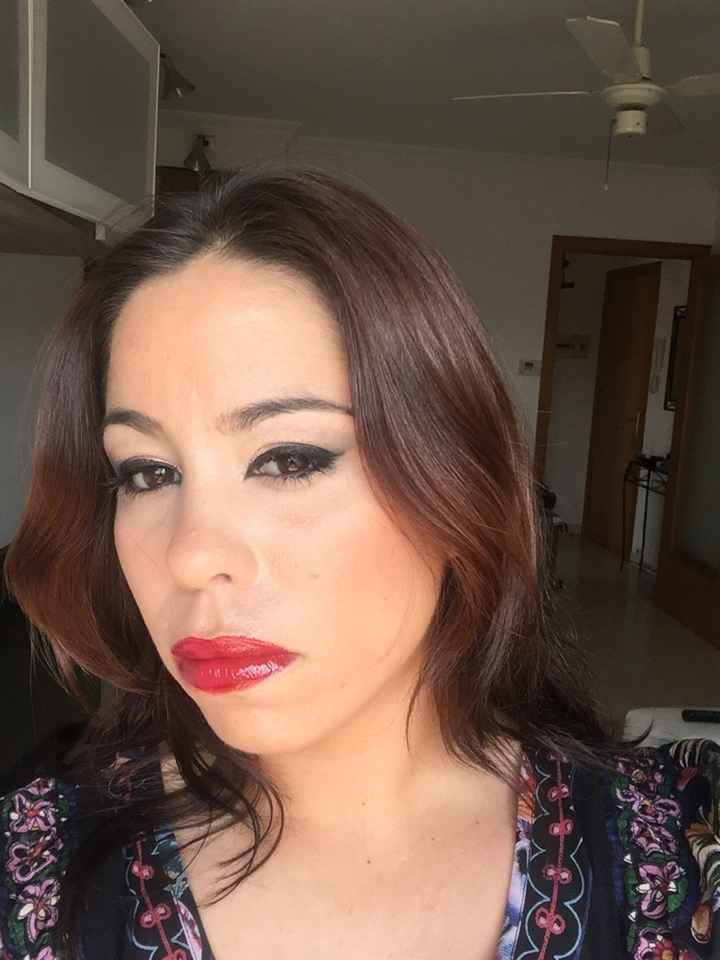 Mi prueba de maquillaje!!! - 2