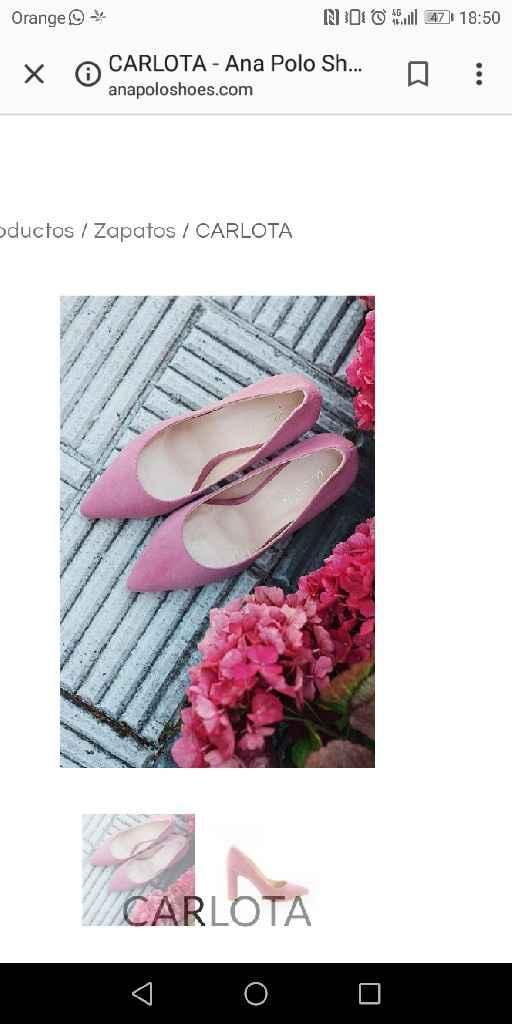 zapatos de color rosa - 1