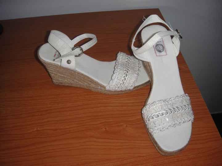 Mis zapatos de esparto!