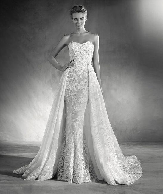 Vestidos de novia de falda desmontable