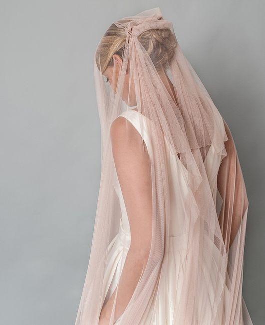 novia velada rosa empolvado - moda nupcial - foro bodas