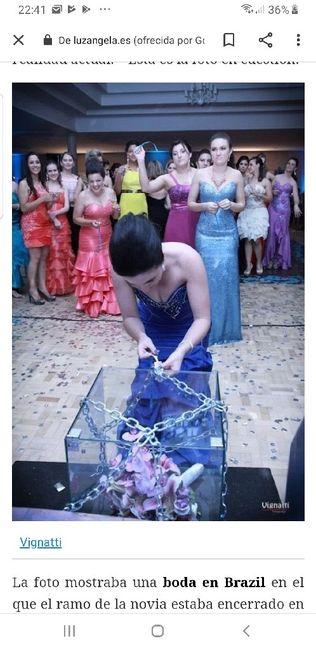 Juego del  ramo en una urna con candado!!! 1