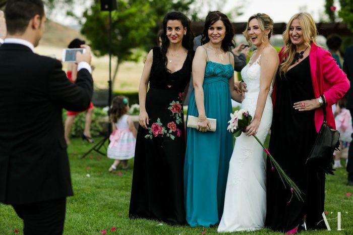 Una foto con la novia