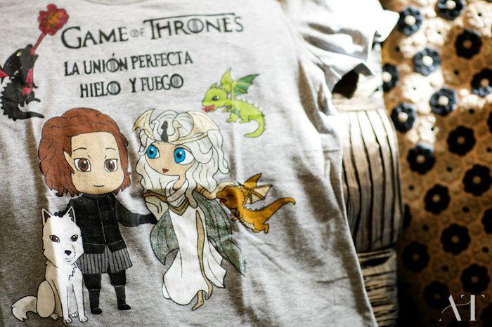 Camisetas pre y post Boda Juego de Tronos de Bodas Caluga