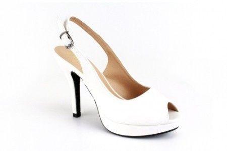 sandalia sencilla blanca