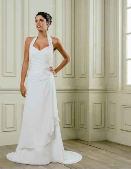 vestido elegido en clara novias