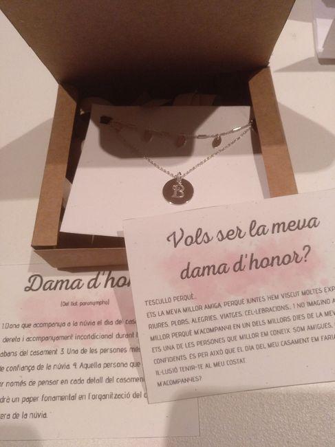 Handmade cajas: testigo, damas de honor y padrino 1