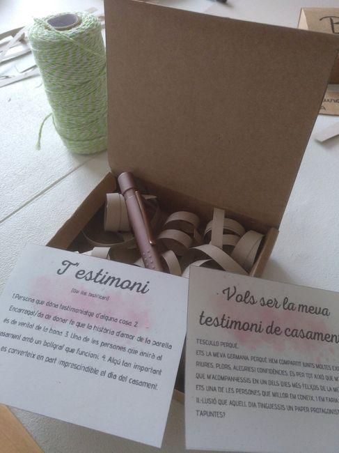 Handmade cajas: testigo, damas de honor y padrino 3