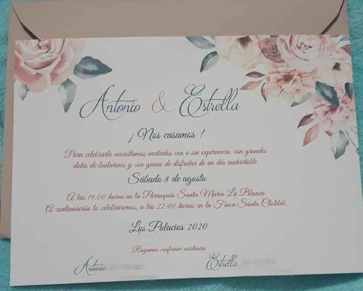 Nuestras invitaciones 😍 - 1