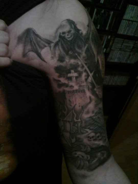 Mi brazo tatuado