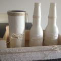 Mis botellas con un toque vintage