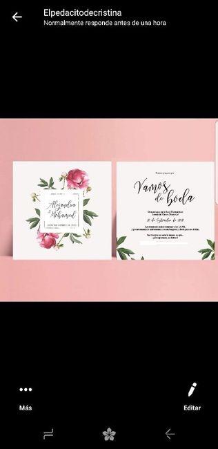 Me encantan mis invitaciones de boda, pero me dicen que son muy ñoñas!!!! 1
