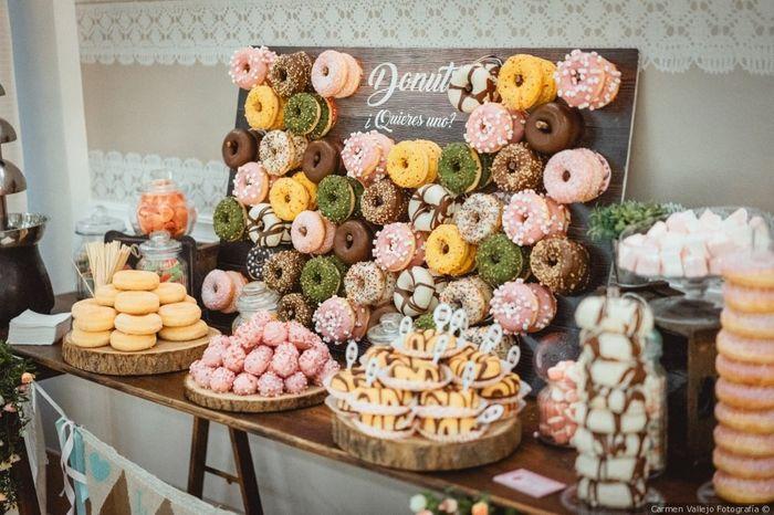¿Incluiréis una barra de donuts el día B? 1