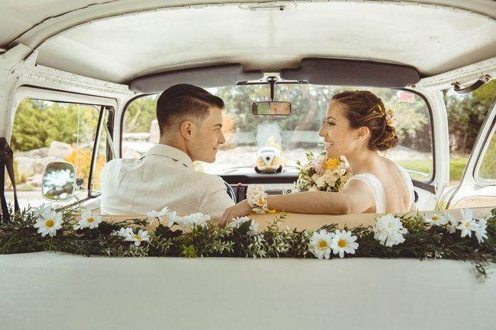 ¿Decoraréis el coche nupcial con flores? 1