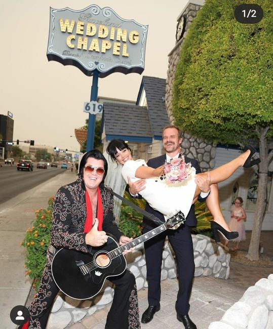 Lily Allen se casa con David Harbour en Las Vegas 💍 2