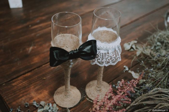 ¿Tendréis copas personalizadas para el brindis? 1
