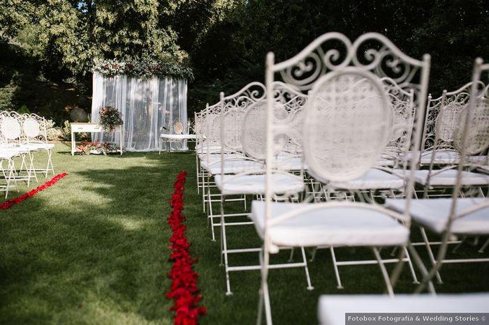 ¿Decorarás el pasillo de la ceremonia con pétalos? 1