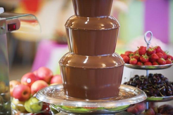 ¿Caerías en la tentación con esta fuente de chocolate? 1
