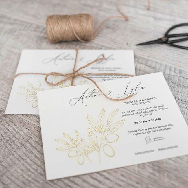 ¿Ya habéis entregado vuestras invitaciones de boda? ✉️ 1