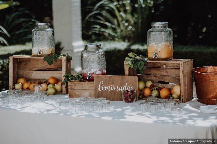 Rincón de limonada o jugos, ¿sí o no en tu casamiento? 😏 1