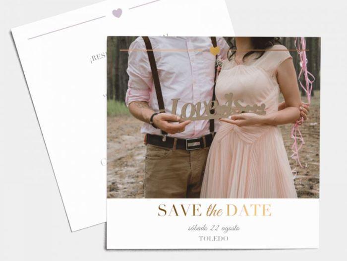 Mis invitaciones: ¿enviamos primero el 'Save the date'? 2