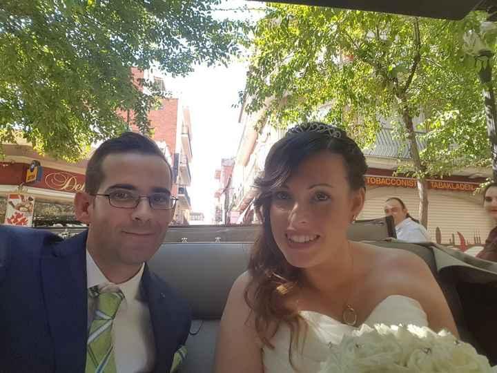 En la limusina... como recién casados!